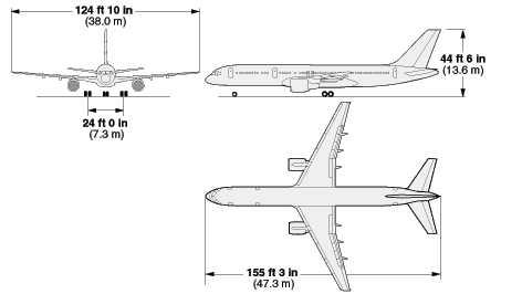 Maße einer Boeing Pentagon an 9/11