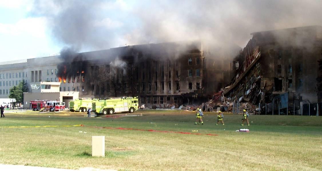 Eingestürztes Pentagon an 9/11