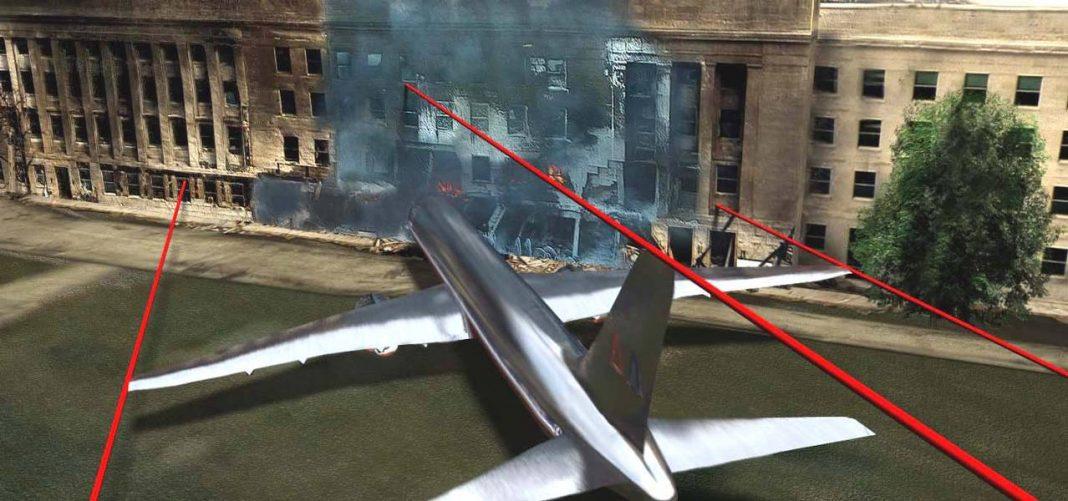 Flugzeug fliegt ins Pentagon an 9/11
