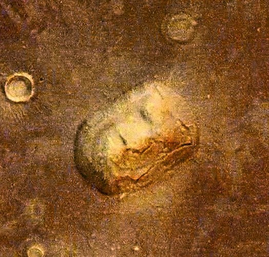 Mars Pyramiden: Cydonia-Region mit Marsgesicht