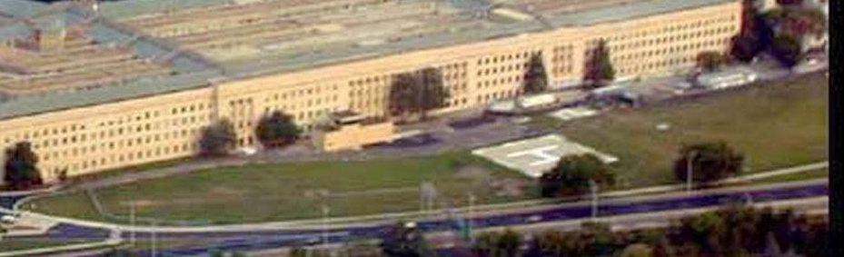 Intaktes Pentagon an 9/11 von fern