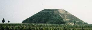 Pyramiden in China, platte Pyramide in Xianyang