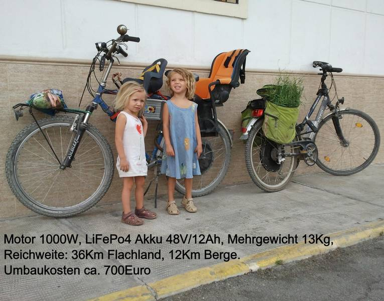 E-Bikes mit 1000 Watt Motoren