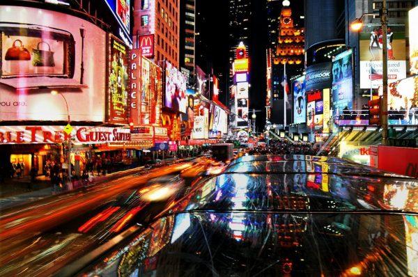 Übererregtheit und Reizüberflutung am Times Square in New York