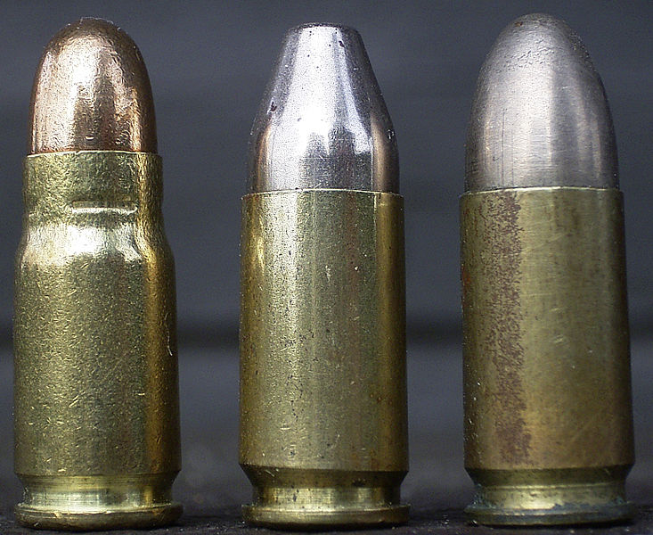 Gegenüberstellung 7,65 mm Para - 9 mm Para