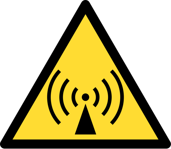 Radio waves hazard symbol