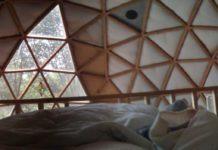Rundhaus, hier: Geodesic Dome Cabin