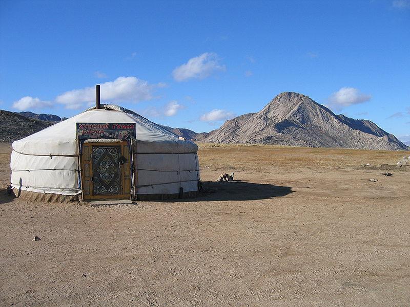 Jurte in der Mongolei