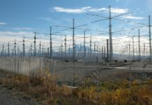 HAARP Antenna Array north of Gakona, Alaska. Courtesy Michael Kleiman, US Air Force.