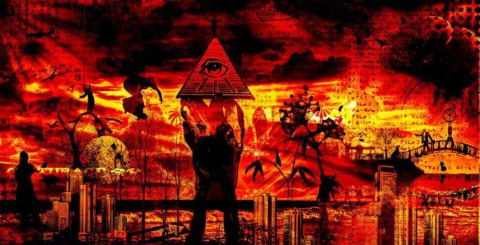 illuminati eye red/black