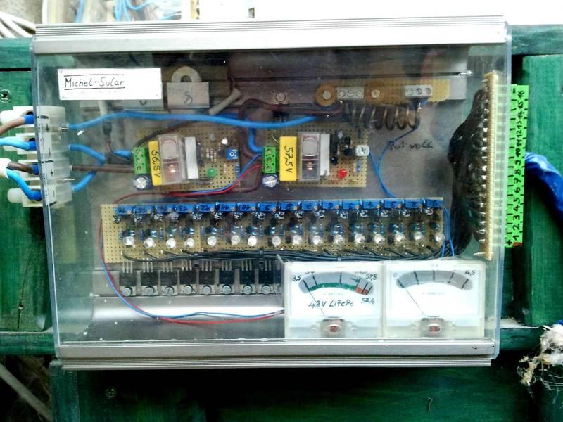 2-Stufen-Regler für 48V-LiFePo4 Akkus