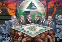 "The New World Order is the Enemy of Humanity"" artwork on Hanbury Street, Brick Lane #London #StreetArt"