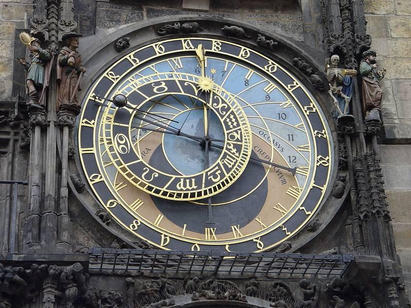 Astronomische Uhr in der Prager Altstadt.