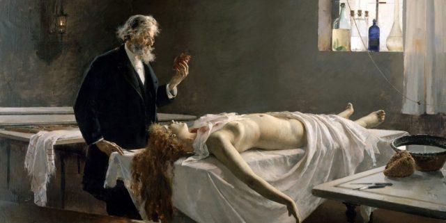 Enrique Simonet - La autopsia - 1890 - Ein Quacksalber im Mittelalter