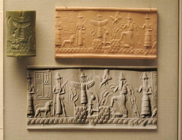 Enki und sumerische Tafeln im britischen Museum