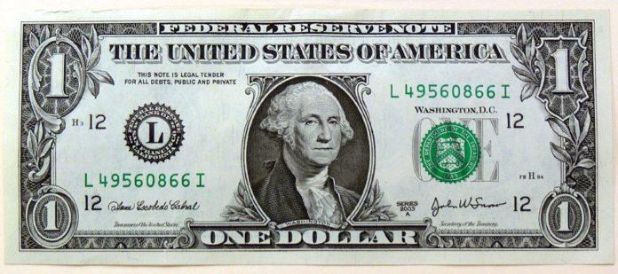 Das ist Fiat Money - ein Dollar schein