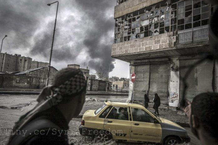 Aleppo in Syrien ruiniert durch den Bürgerkrieg