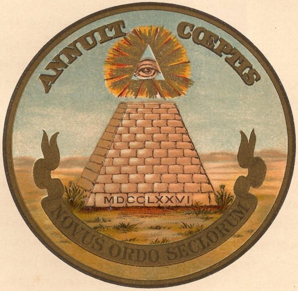 Version of the reverse of the Great Seal of the United States printed in a 1909