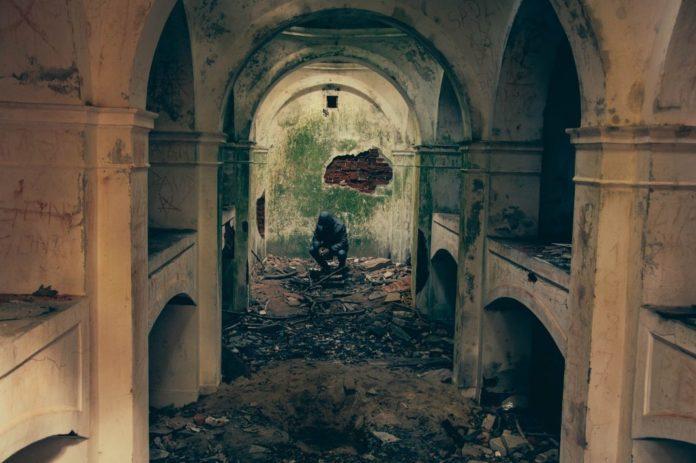 Bombardiertes Gebäude