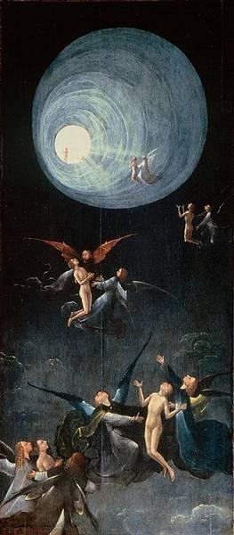 Engel fliegen zum Licht