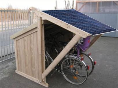 Garage vom Solar-E-Bike