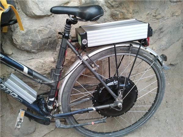 Hinterrad vom Solar-E-Bike