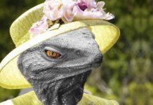 Queen Elizabeth II als Reptiloid
