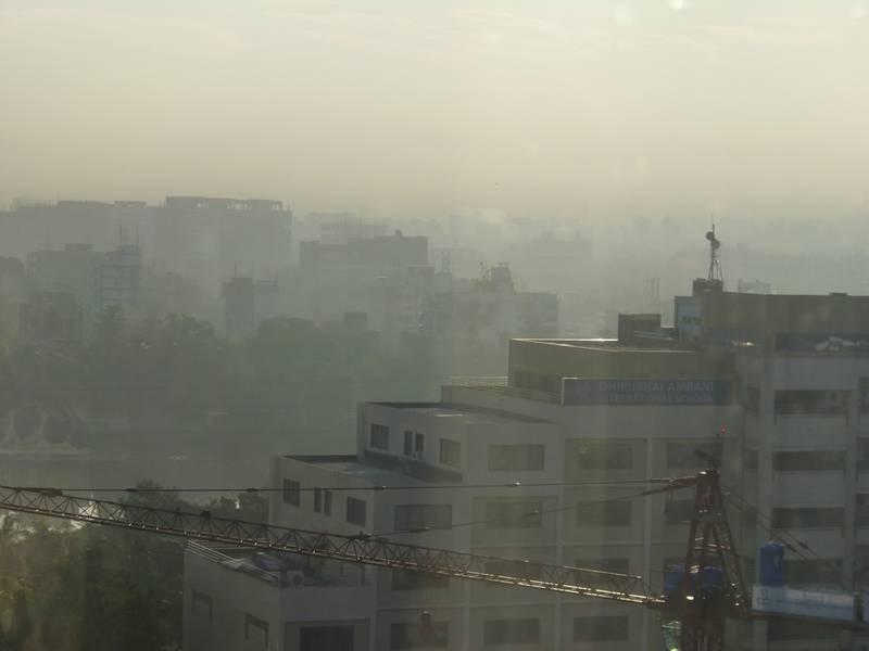 Smog in Mumbai, Indien