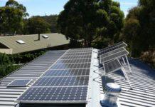 Solarpanele auf dem Dach