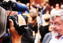 Kameramann beim filmen