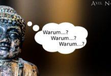 Buddha Statue macht die Zen-Fragetechnik