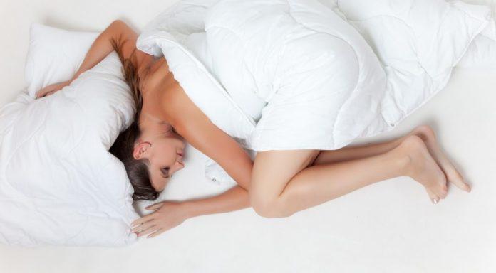 Die Embryonallage als eine der Schlafpositionen