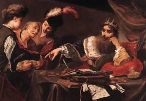 König Krösus empfäng seinen Tribut