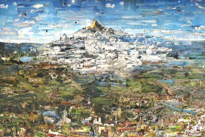 Grüezi Schweiz (Collage aus Ansichtskarten für eine typische Schweizer Landschaft)
