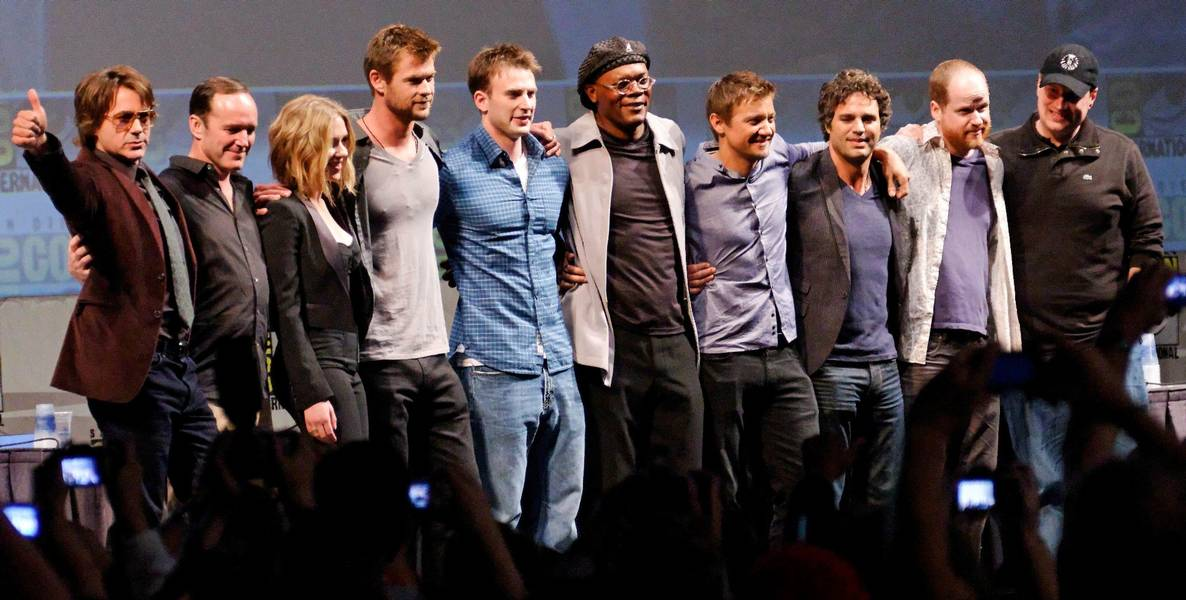 The Avengers Cast 2010 Comic-Con
