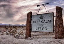 Meditation zum Loslassen: Sage Spruch - keep calm and let go