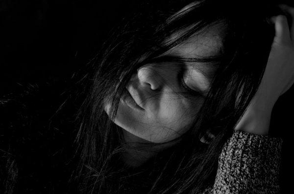 Mädchen mit Depression