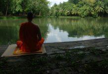 Meditation nach Thich Nhat Hanh am See