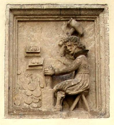 Relief eines Münzschlägers aus der frühen Neuzeit von Till Westermayer