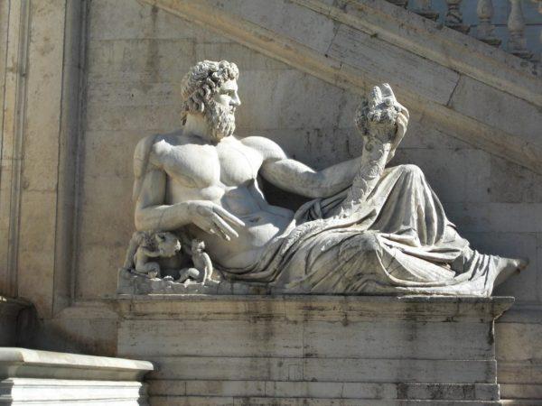 Piazza del campidoglio Statue in Rom als Symbol für den Mann