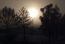 Winterdepression: Winterlandschaft mit Sonnenaufgang