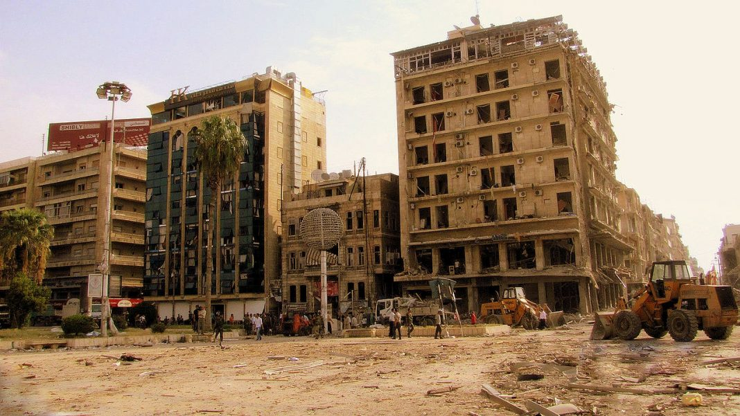 Saadallah after the explosion