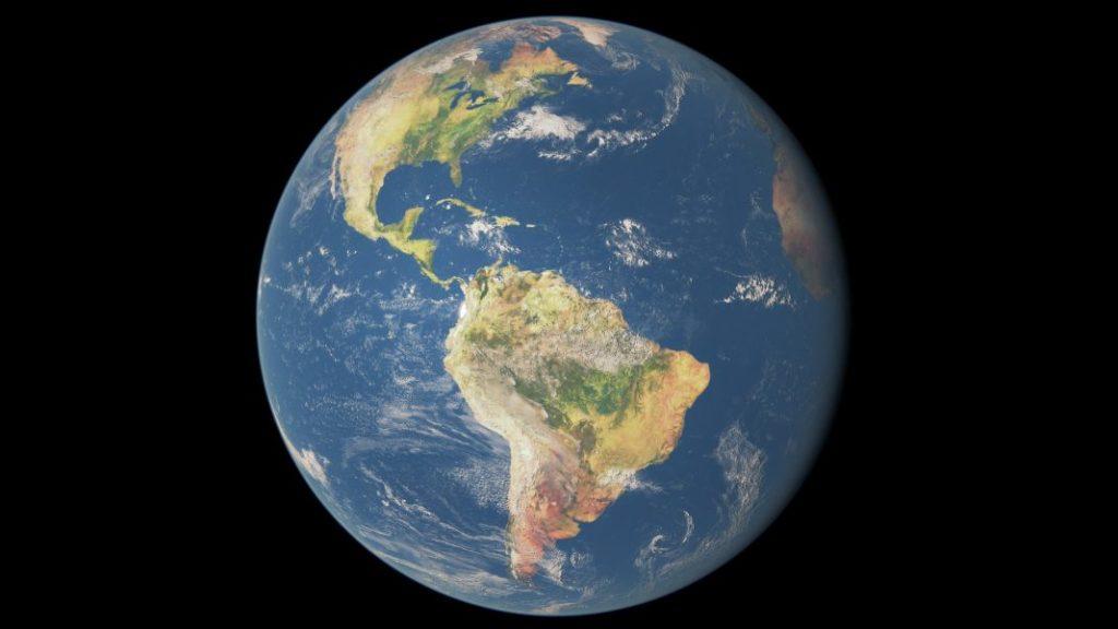 Vollkugel Erde