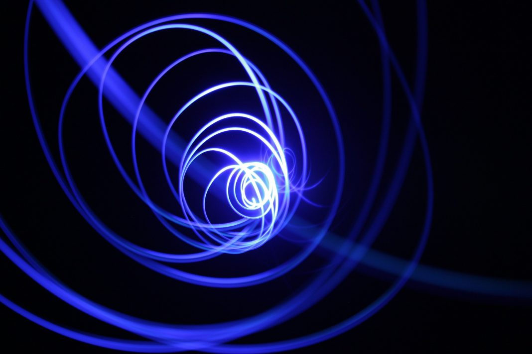 Kreisender Lichtstrahl