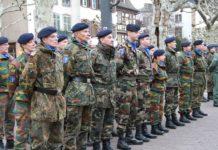 Eurocorps prise d'armes de fin de mission en Afghanistan
