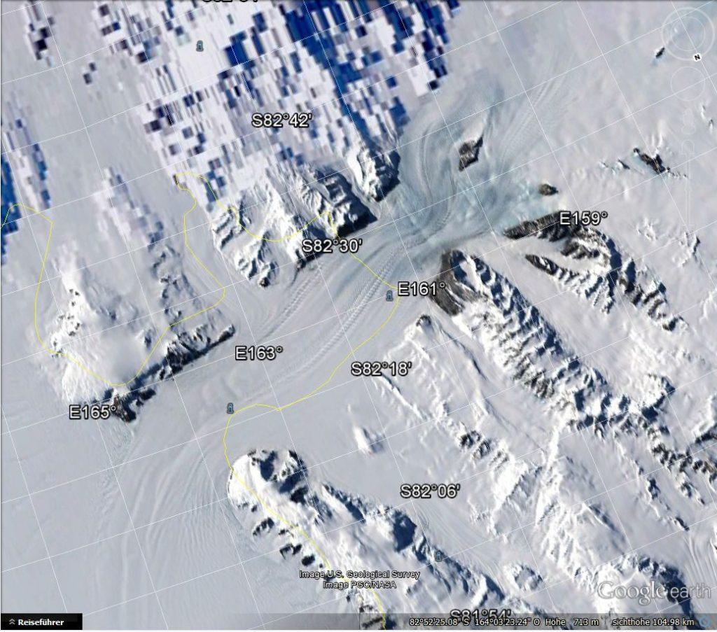 Google´s 1. Unschärfegesetz der Antarktis