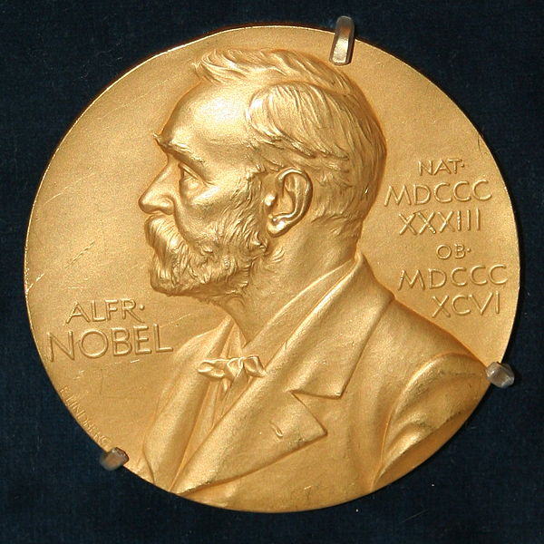 Front side (obverse) of one of the Nobel Prize medals