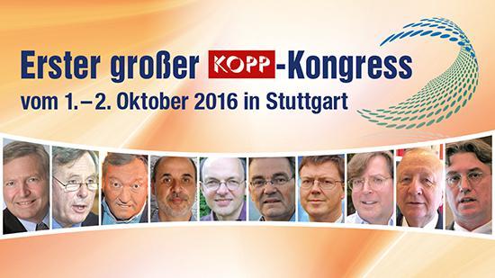 Erster großer Kopp-Kongress 2016 mit Autorenbilder