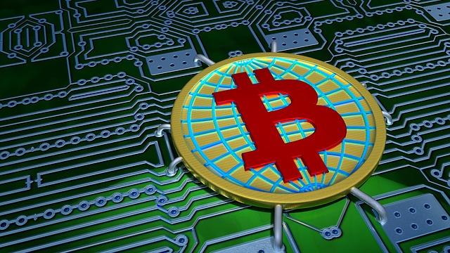 Bitcoin auf einer Platine