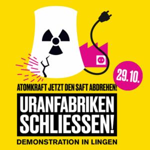 Anti-Atom-Demo Lingen Banner